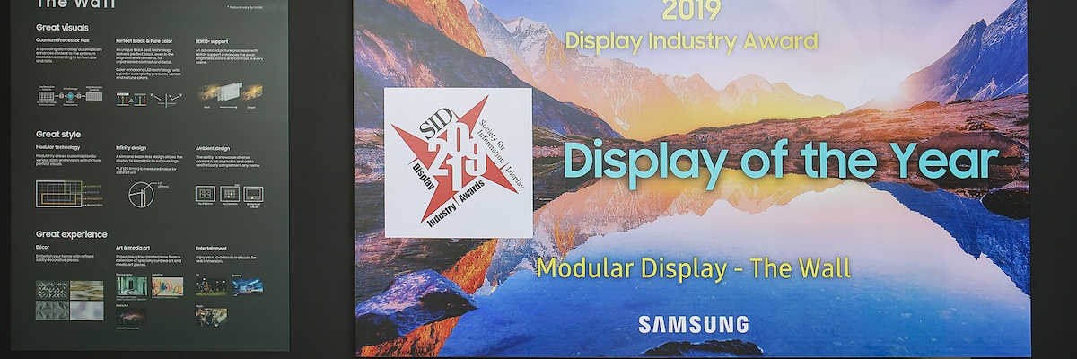 Samsung's 'The Wall' wins industry award for MicroLED